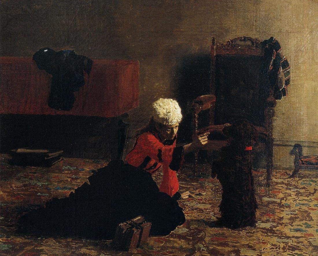 Elizabeth Crowell with a Dog