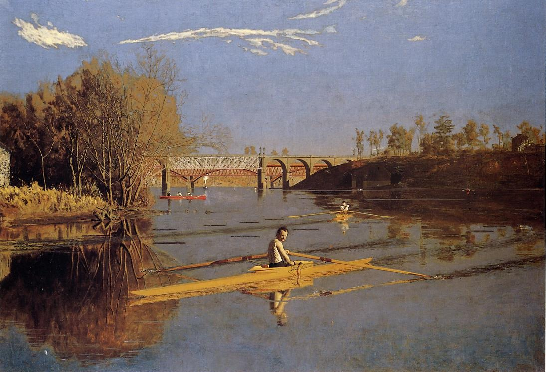 Max Schmitt in a Single Scull