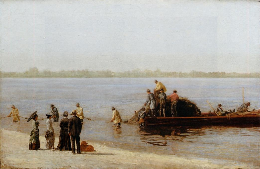 Shad Fishing at Gloucester on the Delaware River 1