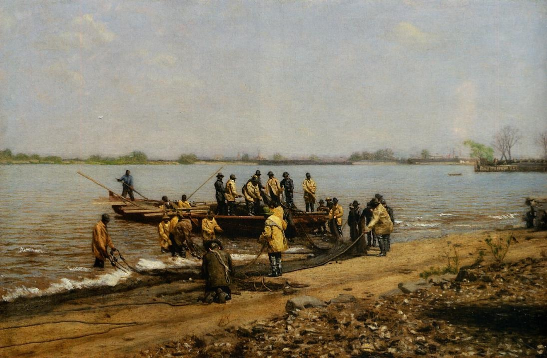 Shad Fishing at Gloucester on the Delaware River 2