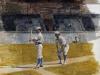 Baseball Players Practicing