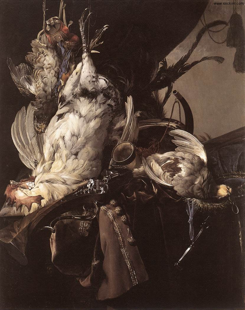 still-life-of-dead-birds-and-hunting-weapons