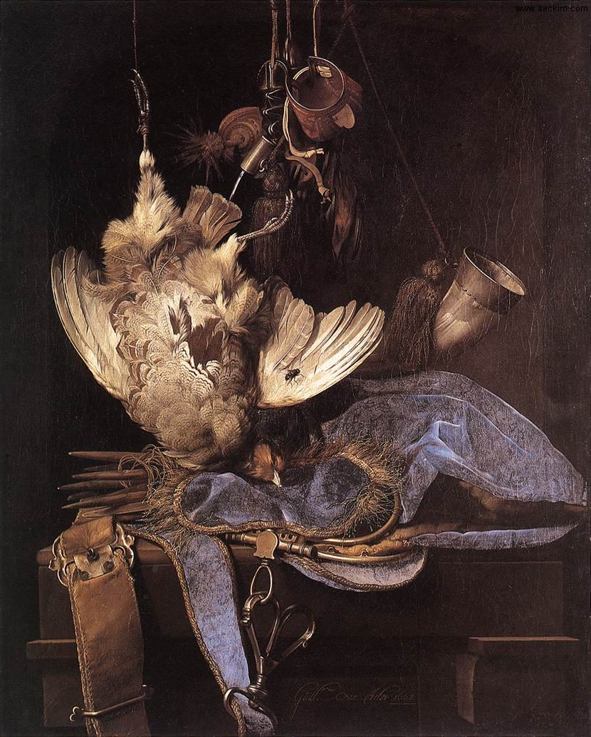 still-life-with-hunting-equipment-and-dead-birds