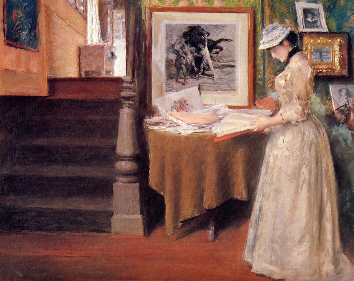 interior-young-woman-at-a-table